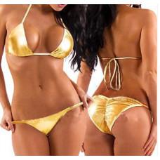 Купить Купальник блестящий золотистый бикини