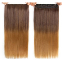 Волосы на заколках омбре ровные волосы трессы