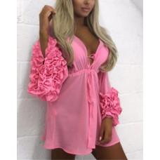 Купить Туника пляжная пляжный халат розовый