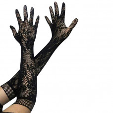Купить Перчатки гипюровые, перчатки кружевные черные