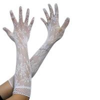 Перчатки ажурные белые, перчатки кружевные белые