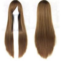 Парик искусственный золотисто-коричневые длинные волосы