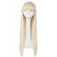 Парик искусственный блондинка с челкой длинные прямые волосы 70 см
