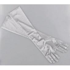 Купить Перчатки серые атласные выше локтя