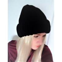 Теплая объемная шапка крупная вязка