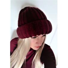 Купить Теплая объемная шапка крупная вязка