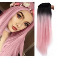 Парик омбре, парик розовый, парик длинные ровные волосы
