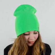 Купить Шапка чулок зеленая, шапка зеленая, шапка бини зеленая