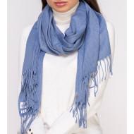 Шарф женский цвета джинс однотонный палантин