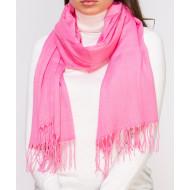 Шарф женский розовый однотонный палантин