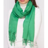 Шарф женский зеленый однотонный палантин