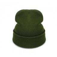 Шапка-чулок теплая вязаная шапка хаки унисекс